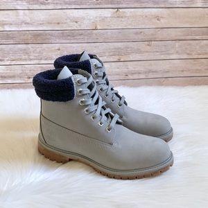"Timberland Grey Premium 6"" Waterproof Boots"